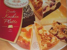Bunte Kuchen Platte, Kirsch-Schoko-Kuchen mit Mandelrahm | Hochgeladen von: SeniorDieter