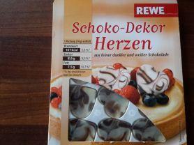 Schoko-Dekor Herzen, weiße und dunkle Schokolade   Hochgeladen von: subtrahine