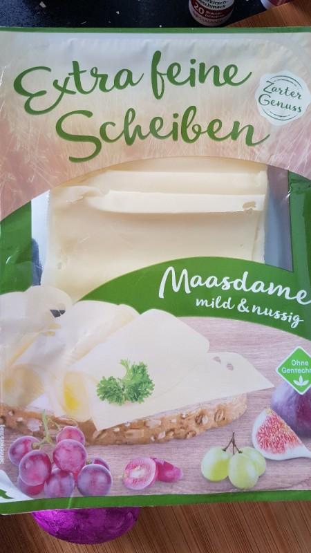 Maasdamer mild & nussig, Extra feine scheiben von blanova | Hochgeladen von: blanova