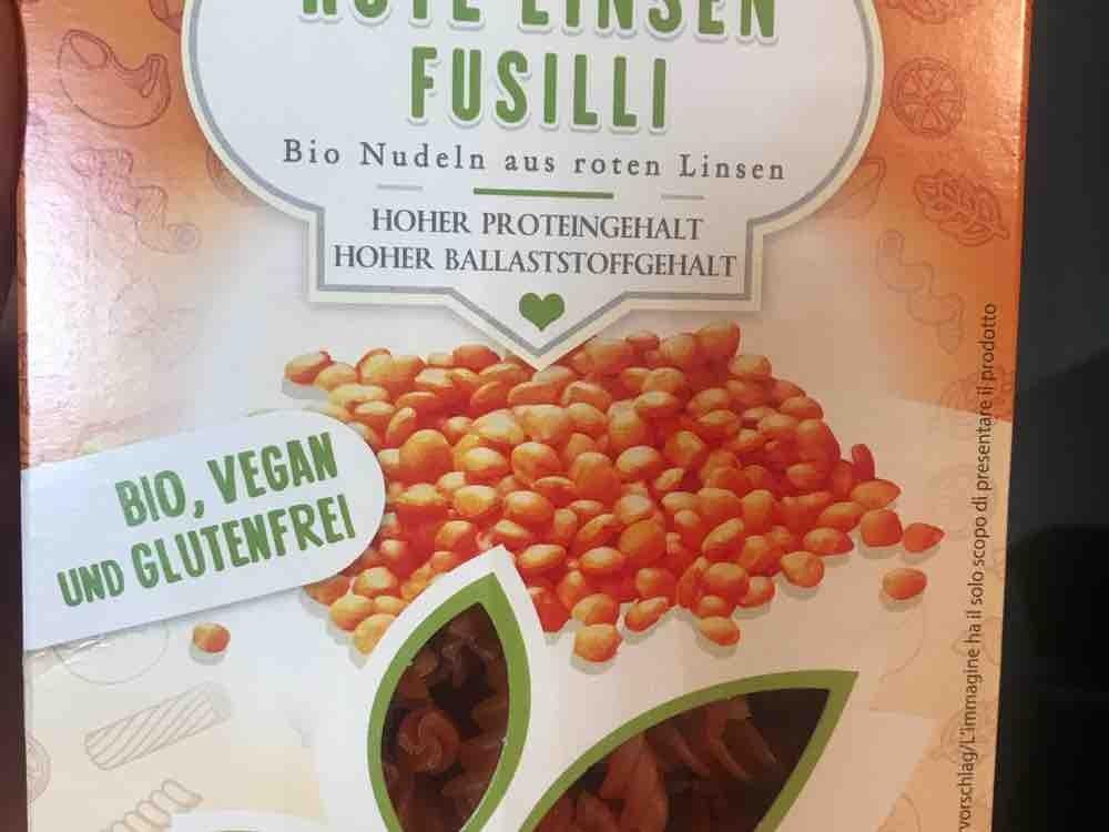 Rote Linsen Fusilli, bio nudeln  von Sajkaanna   Hochgeladen von: Sajkaanna