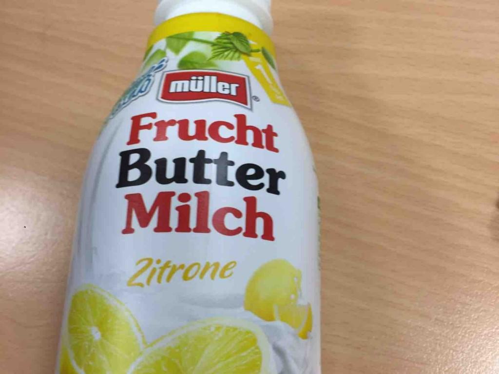 Müller, Frucht Buttermilch, Zitrone Kalorien - Milchgetränke - Fddb