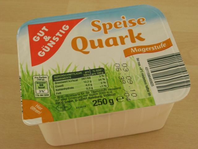 Speise Quark, Magerstufe   Hochgeladen von: Teecreme