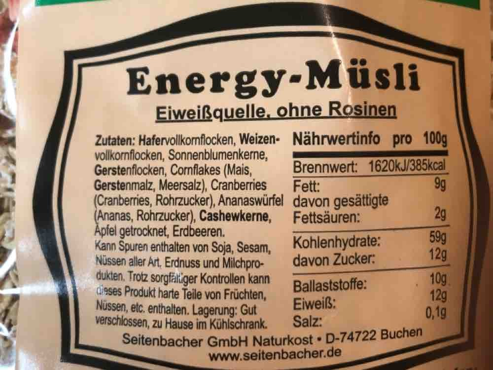 Seitenbacher Energy-Müsli, ohne Rosinen by paulinebe00   Uploaded by: paulinebe00
