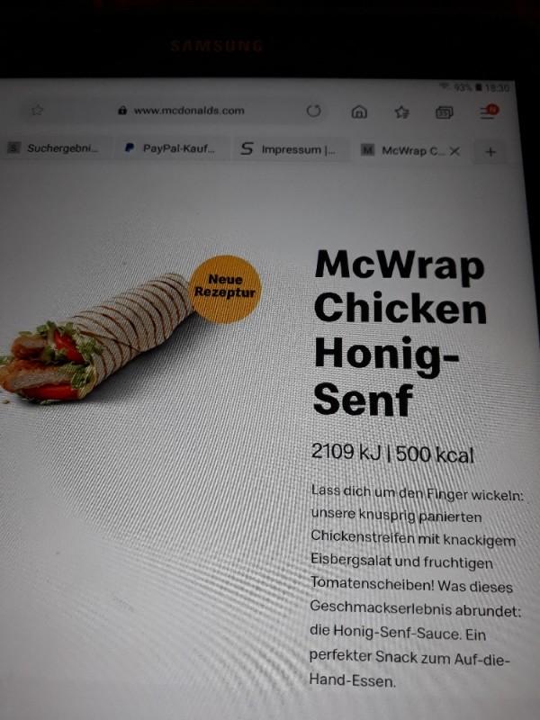McWrap Chicken Honig-Senf von utacat912 | Hochgeladen von: utacat912