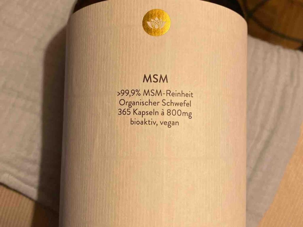 MSM Methylsulfonylmethan = Schwefel, ??100g = Inhaltsstoffe 1 Kapsel (800mg MSM) von LilleK | Hochgeladen von: LilleK
