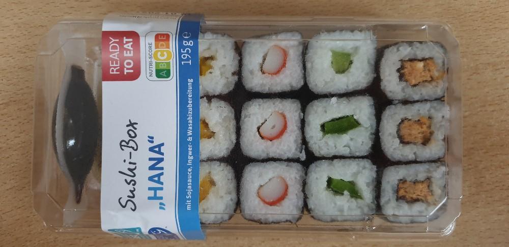 """Sushi-Box """"Hana"""", Mit Sojasauce, Ingwer- & Wasabizubereitung von Sane3110   Hochgeladen von: Sane3110"""