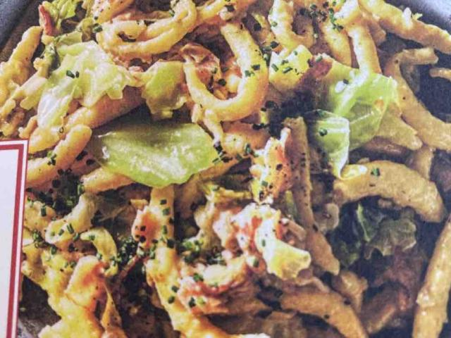 Gebratene Spätzle mit Bacon, kräftigem Bergjausenkäse und Spitzkohl von Fintan   Hochgeladen von: Fintan