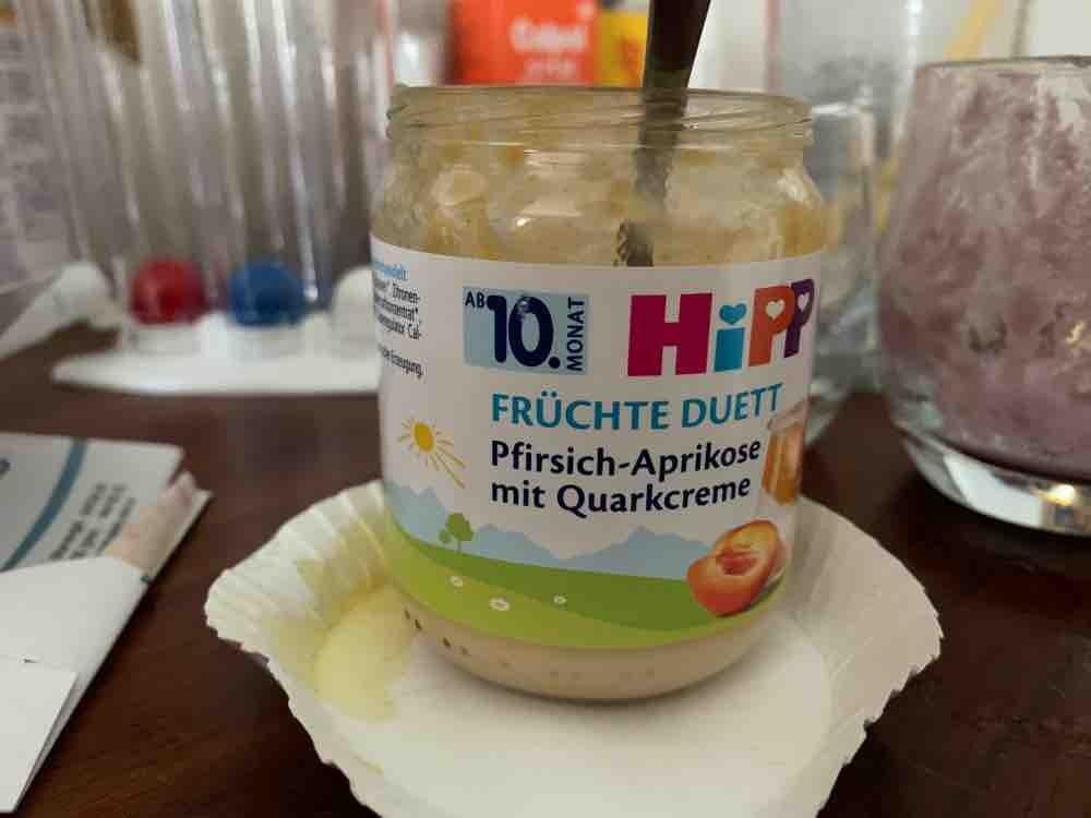 Früchte Duett, Pfirsich-Aprikose mit Quarkcreme von Kirsten02   Hochgeladen von: Kirsten02