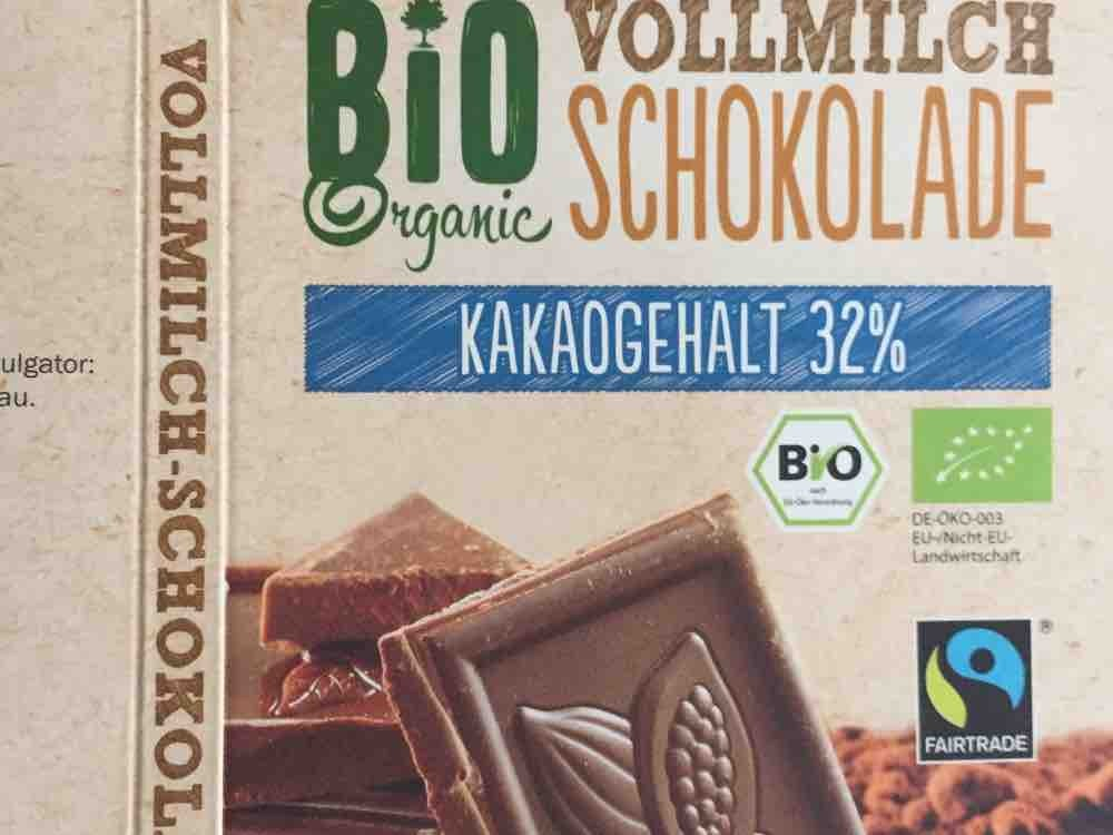 Bio Organic Vollmilch Schokolade, 32% Kakaogehalt von MiSp | Hochgeladen von: MiSp