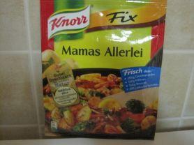 Knorr fix Mamas Allerlei, Trockenprodukt   Hochgeladen von: belinda