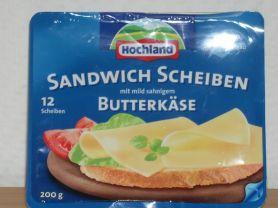 Hochland Sandwich Scheiben, Butterkäse mild sahnig | Hochgeladen von: seibet2