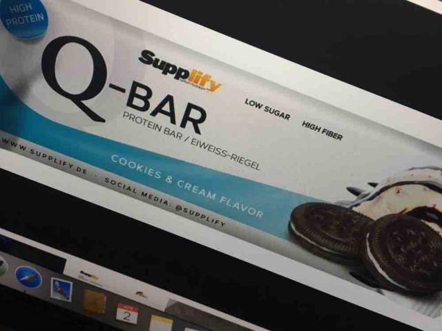 Supplify Q-Bar, Cookies & Cream Flavour von carlottasimon286 | Hochgeladen von: carlottasimon286