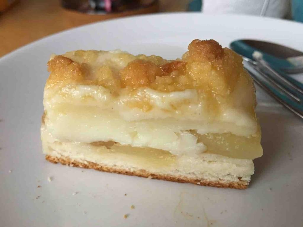 Selbst Gemacht Apfelkuchen Mit Hefeteig Pudding Streusel Apfel