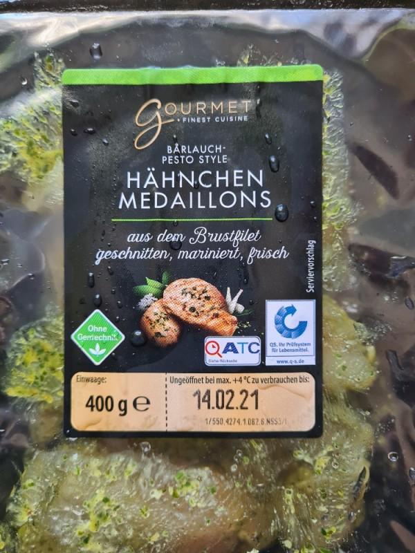 Bärlauch-Pesto Hähnchen Medaillons, aus dem Brustfilet von milkiwilki | Hochgeladen von: milkiwilki