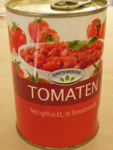 Gartenkrone, Tomaten fein gehackt | Hochgeladen von: Teecreme