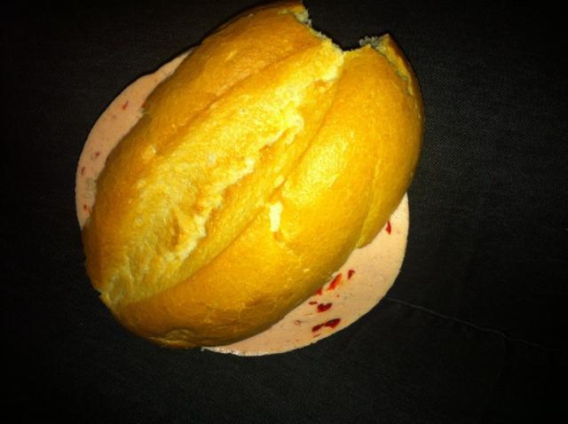 Brötchen mit Butter und Paprika Mortadella  | Hochgeladen von: krawalla1