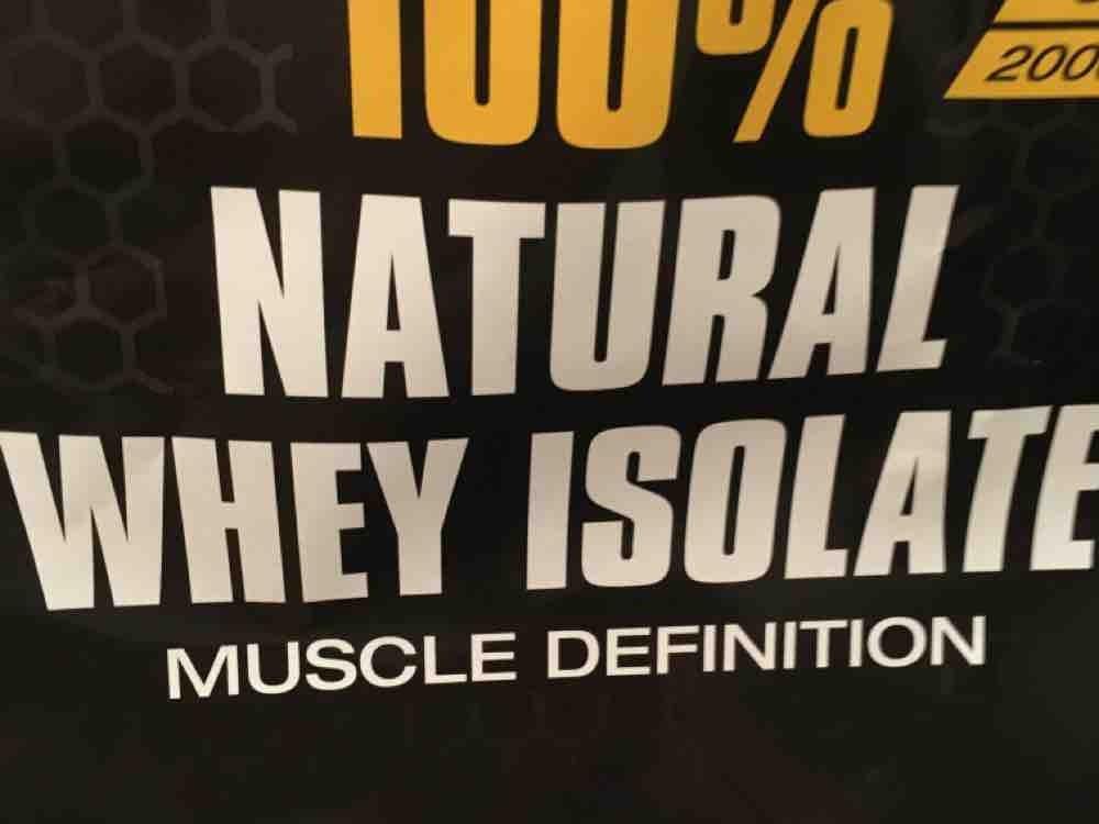 100% Natural Whey Isolate von Lewi   Hochgeladen von: Lewi