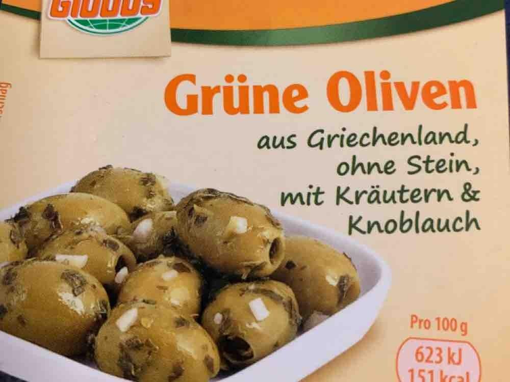 Grüne Oliven, ohne Stein, mit Kräutern und Knoblauch von THTMajor   Hochgeladen von: THTMajor