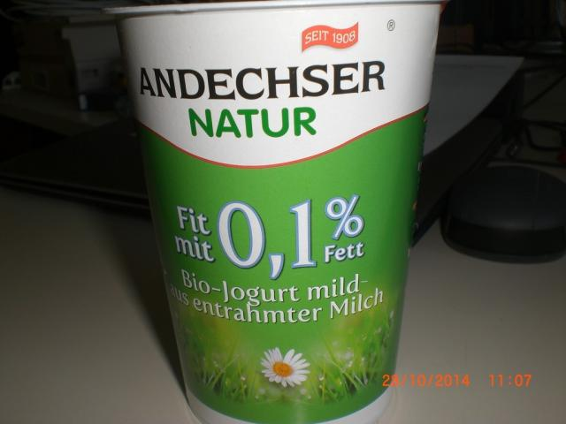 Andechser Naturjogurt, fit mit 0,1% Fett   Hochgeladen von: detlef.neubauer