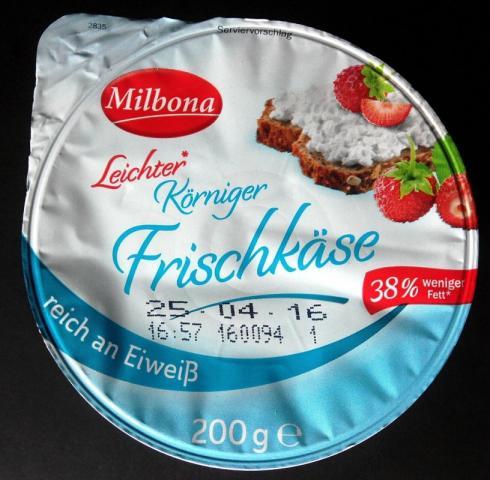 Körniger Frischkäse light, 2,4% Fett   Hochgeladen von: Bellis