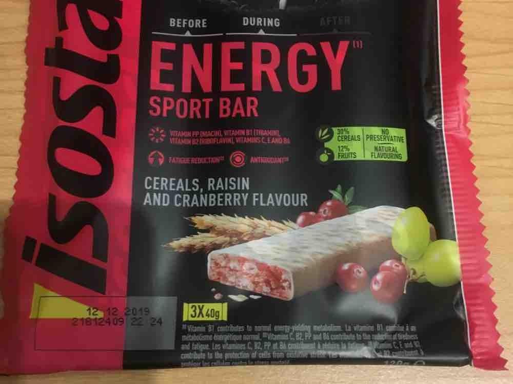 Energy sport bar, Raisin and cranberry von Diddl15 | Hochgeladen von: Diddl15