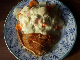 Kohlrabi-Möhren Gemüse, Pute und Käsesauce | Hochgeladen von: Nudelpeterle