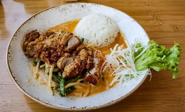 Rotes Thai Curry mit Reis & Hähnchen von walker59 | Hochgeladen von: walker59