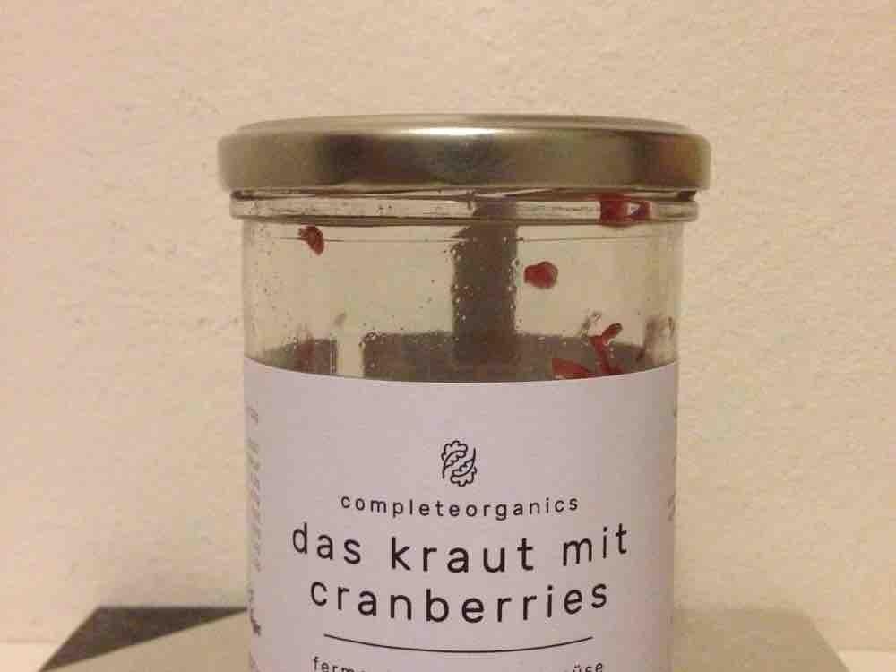 das kraut mit cranberries, fermentiertes bio-gemüse  ohne zusätze  von contessa30 | Hochgeladen von: contessa30
