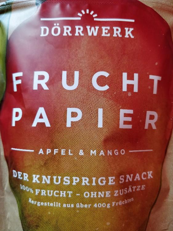 Fruchtpapier, Apfel-Mango von Hexenkoechin   Hochgeladen von: Hexenkoechin
