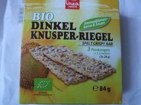 Bio Dinkel Knusper-Riegel, Sonnenblumenkerne und Sesam | Hochgeladen von: inge71