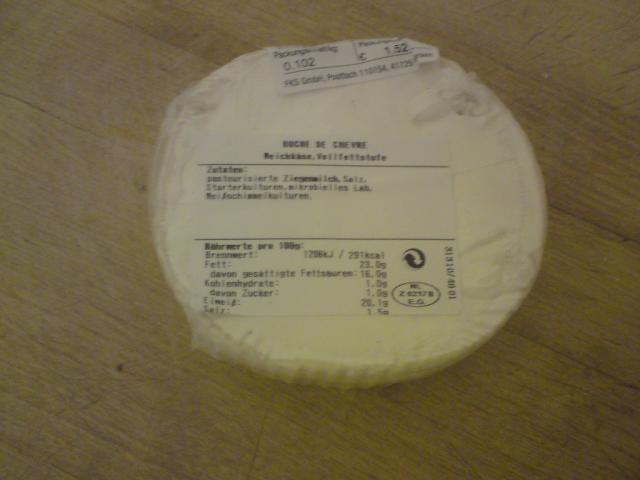 Buche de Cèvre Weichkäse 55% Fett i. Tr.   Hochgeladen von: Eva Schokolade
