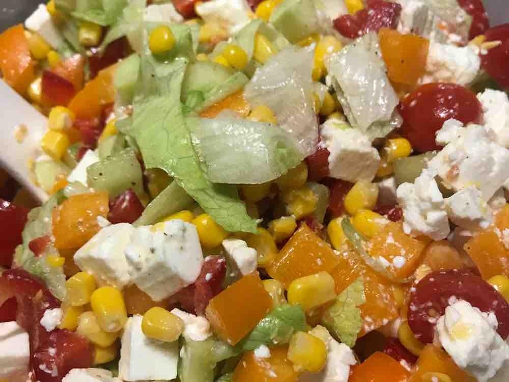 Paprika Mais Salat mit Schafskäse von NicoleHettwer | Hochgeladen von: NicoleHettwer