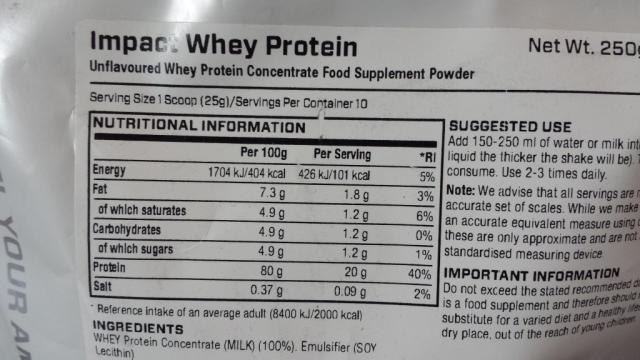 Impact Whey Protein, neutral | Hochgeladen von: alphaht