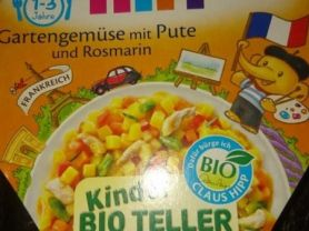 Kinder Bio Teller, Gartengemüse mit Pute und Rosmarin | Hochgeladen von: Vivcsy