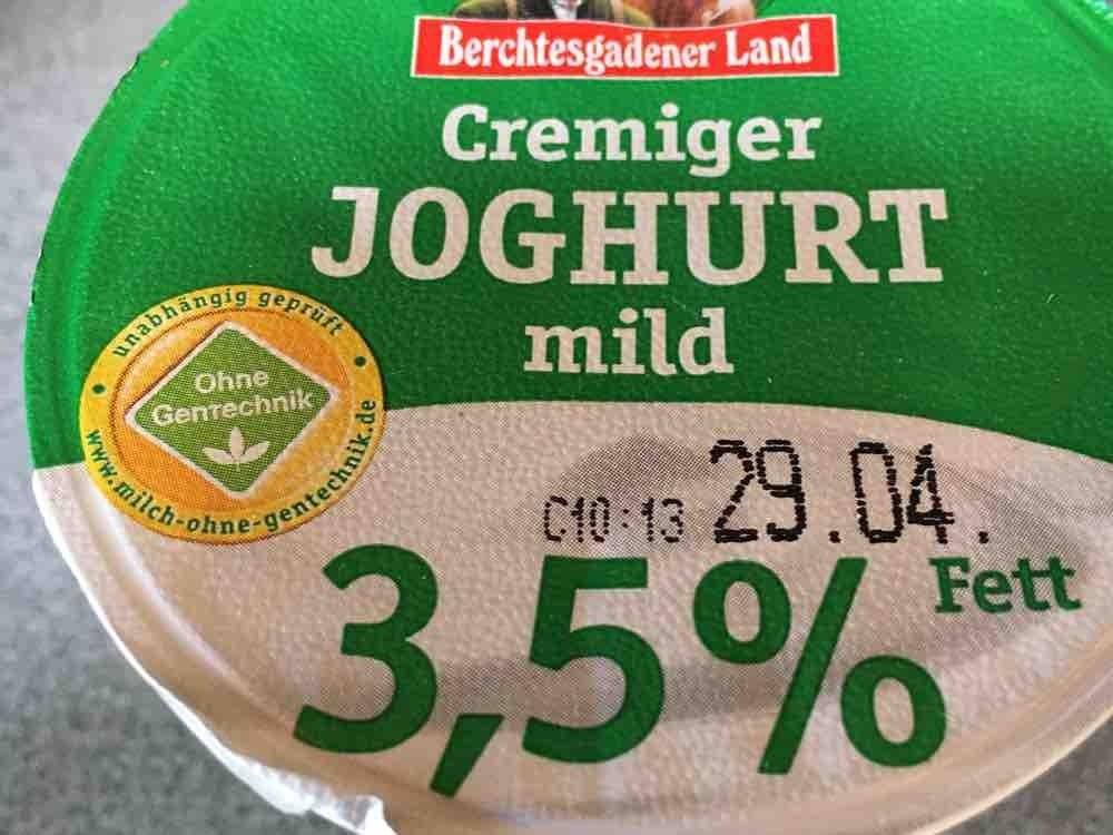 Joghurt mild 3,5% extra cremig (Berchtesgadener), natur von Grauer   Hochgeladen von: Grauer