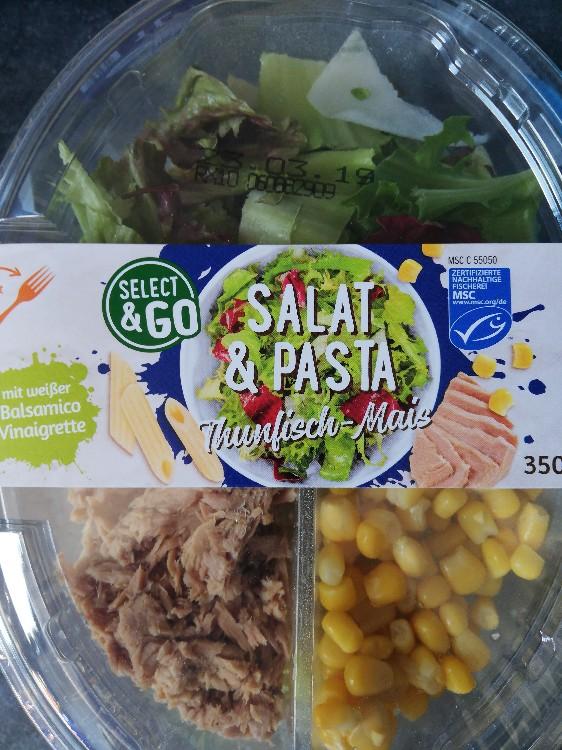 Thunfisch-Mais-Salat auf Nudeln, mit weißer Balsamico-Vinaigrette von M. N   Hochgeladen von: M. N