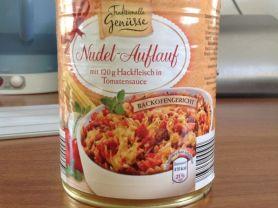 Nudel-Auflauf mit 120g Hackfleisch in Tomatensauce   Hochgeladen von: PeakyLadyBug