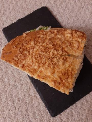 Fladenbrot mit gekochtem Schinken, Käse und Krautsalat von inamer373 | Hochgeladen von: inamer373