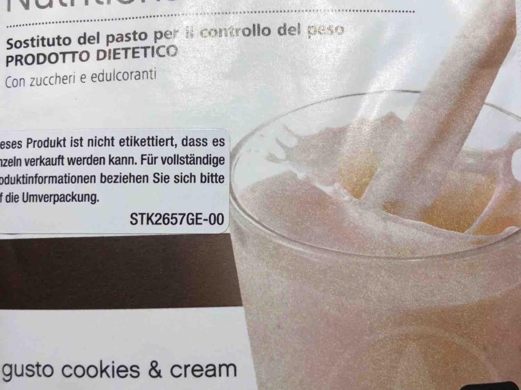 Formular  1 Gesunde Mahlzeit / Cookie & Cream von doris.bauer | Hochgeladen von: doris.bauer