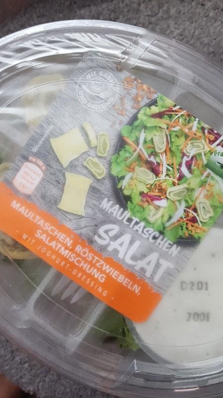 Maultaschensalat, mit Röstzwiebeln von ninasuky | Hochgeladen von: ninasuky