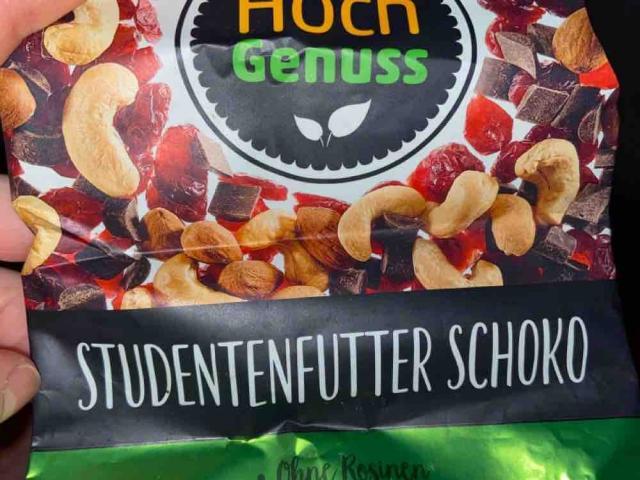 Hoch Genuss: Studentenfutter Schoko, ohne Rosinen, mit Zartbitterschokolade von leni170999 | Hochgeladen von: leni170999