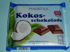 aldi mauritius gef llte milchschokolade kokos schokolade kalorien schokolade fddb. Black Bedroom Furniture Sets. Home Design Ideas