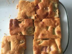 Selbst Gemacht Rhabarberkuchen Grosses Blech Kalorien Kuchen