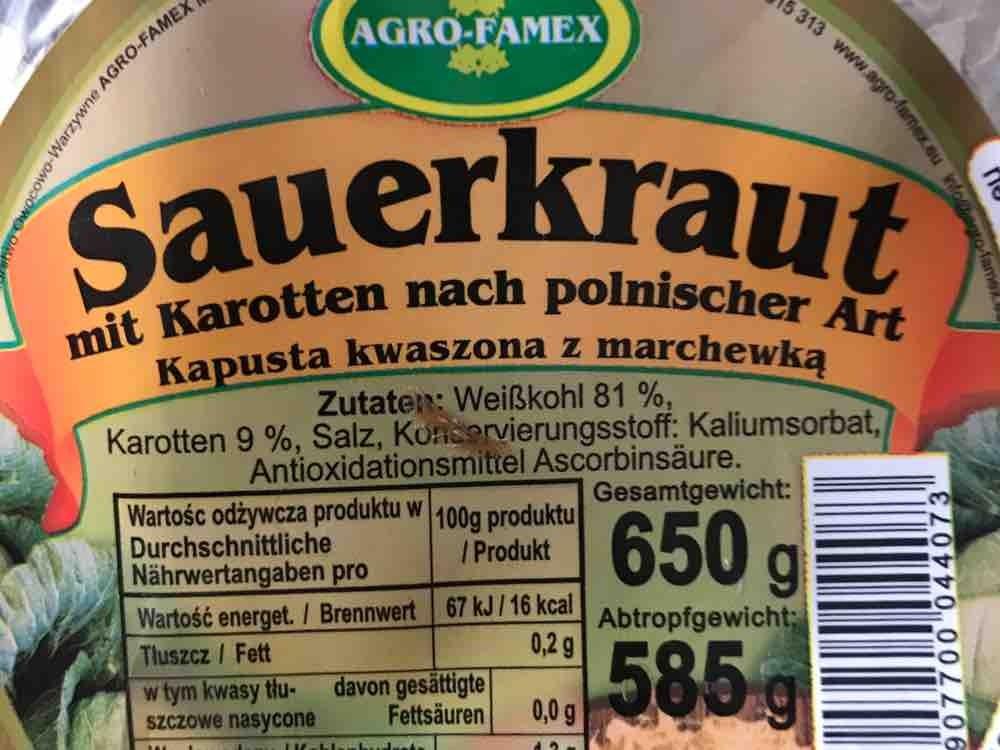 Kapusta Sauerkraut mit Karotten von steffenhanisch | Hochgeladen von: steffenhanisch