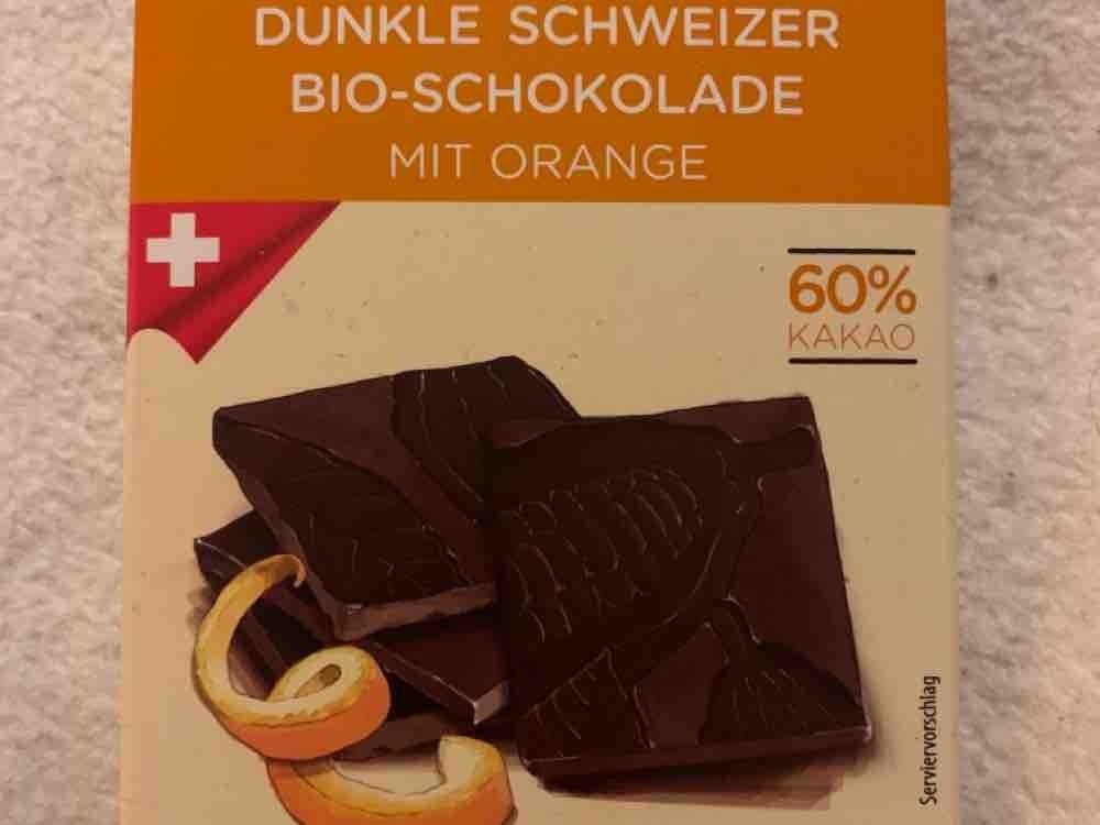 Dunkle Schweizer Bio-Schokolade, mit Orange und 60% Kakao von PeGaSus16 | Hochgeladen von: PeGaSus16