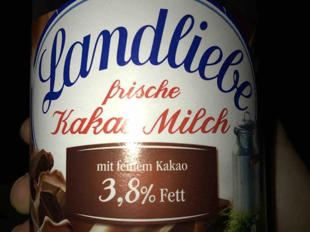 Landliebe, Frische Kakao Milch, 3,8% Fett Kalorien - Milchgetränke ...