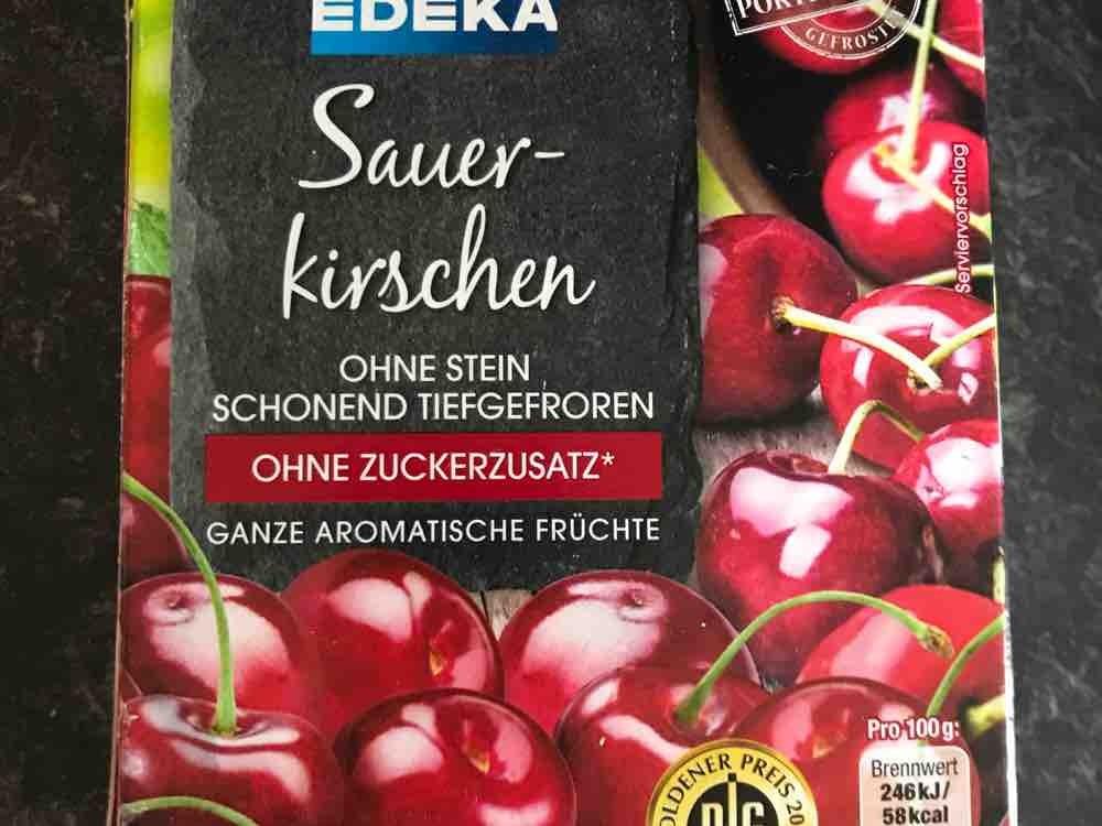 Edeka, Sauerkirschen TK ohne Zuckerzusatz Kalorien - Obst