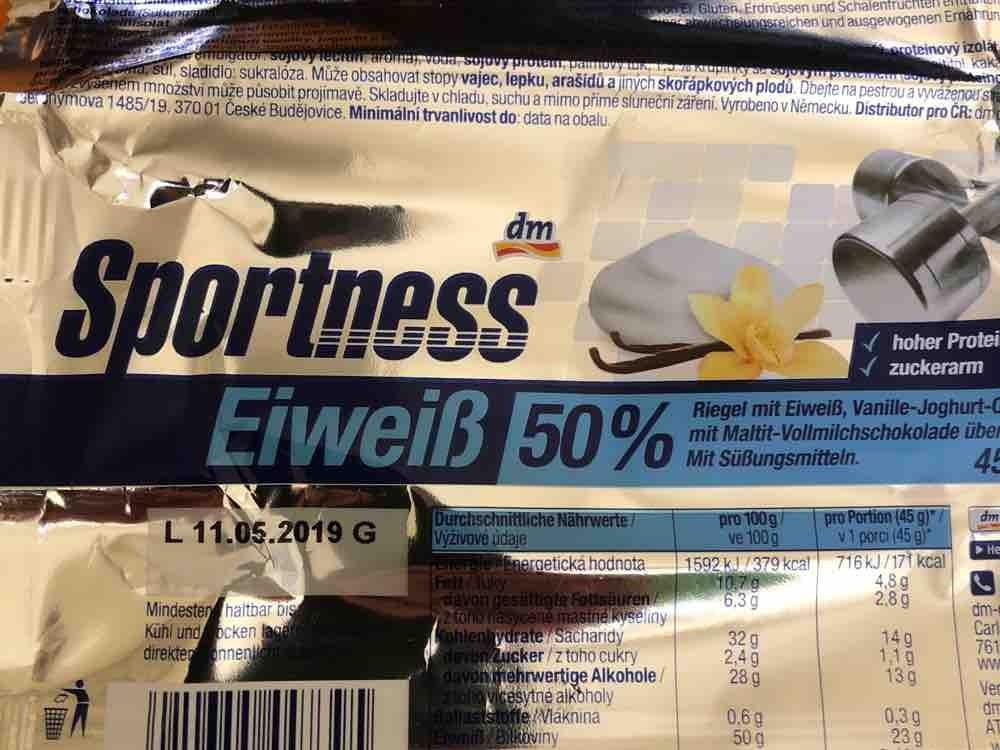 Sportness Eiweiß 50% , Vanille-Joghurt-Crisp-Geschmack  von Janimaxx   Hochgeladen von: Janimaxx
