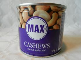 Max Cashews, geröstet und gesalzen   Hochgeladen von: maeuseturm