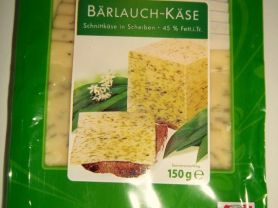 Salzburger Land, Bärlauch-Käse, Schnittkäse in Scheiben, 45%   Hochgeladen von: wicca
